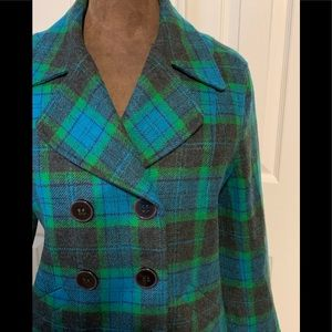 Liz Claiborne plaid coat
